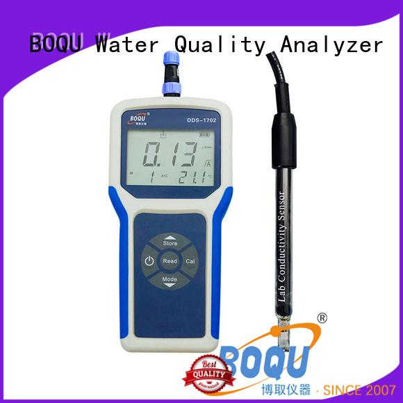 BOQU convenient portable conductivity meter factory direct supply for sewage treatment