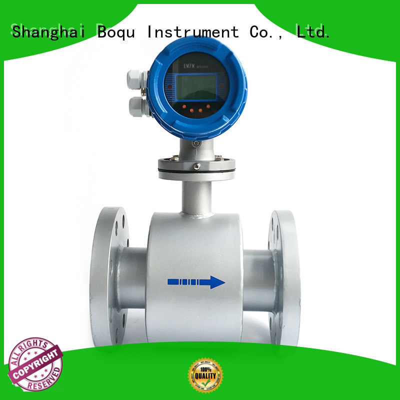 BOQU electromagnetic flow meter supplier for wastewater applications