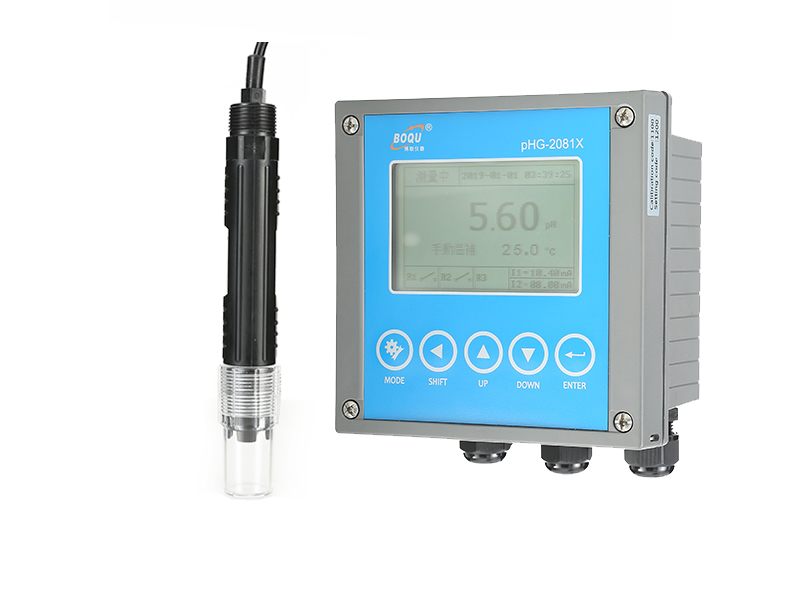 Operation of PHG-2081X Online pH Meter